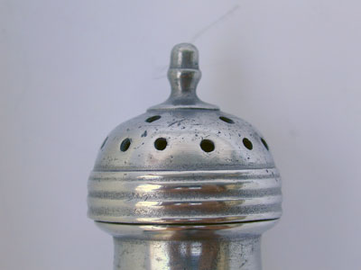An 18th Century English Export Pewter Caster