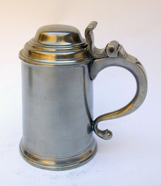 A John & Thomas Fasson Export Pewter Tankard