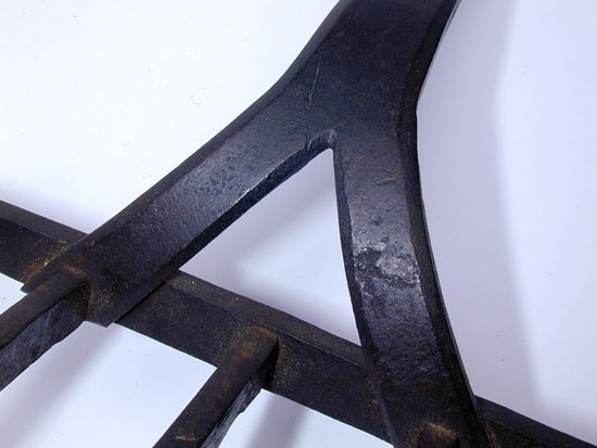 A Finely Wrought Miniature Wrought Iron Broiler