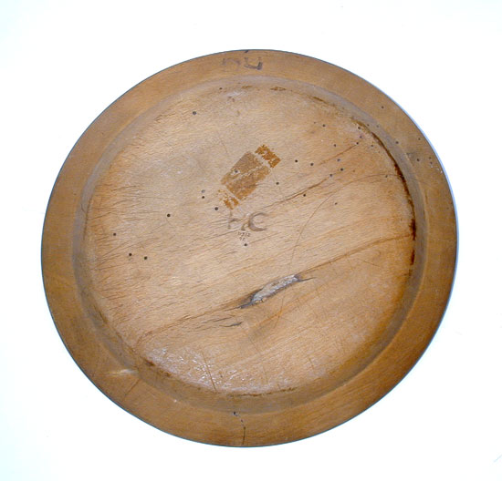 A Treenware Plate with Initials