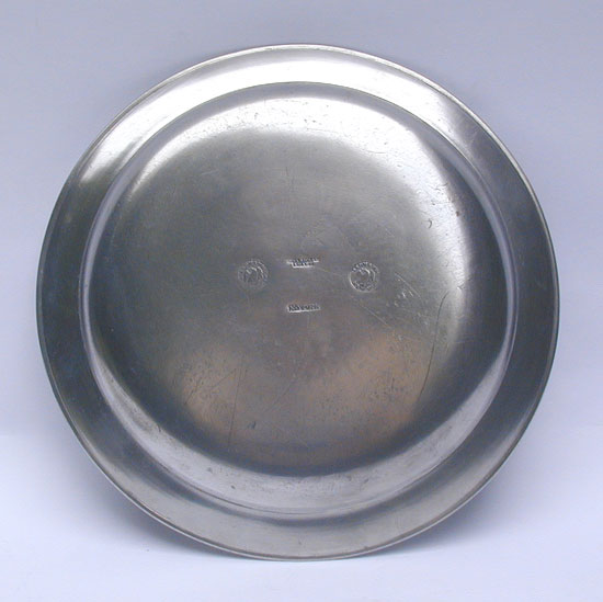 A Narrow Rim Pewter Plate by Boardman & Hart