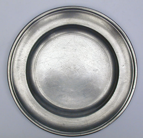 A Middletown Pewter Plate by Joseph Danforth