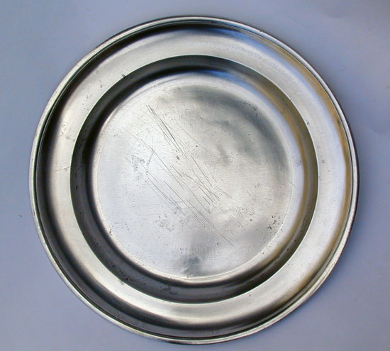 A Fine Large Pewter Platter by Hamlin