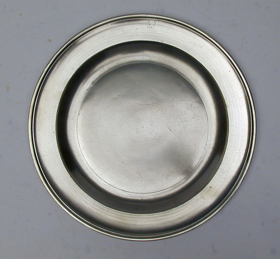 A Very Fine Export Pewter Plate by Stynt Duncomb