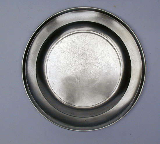 A Pewter Plate by