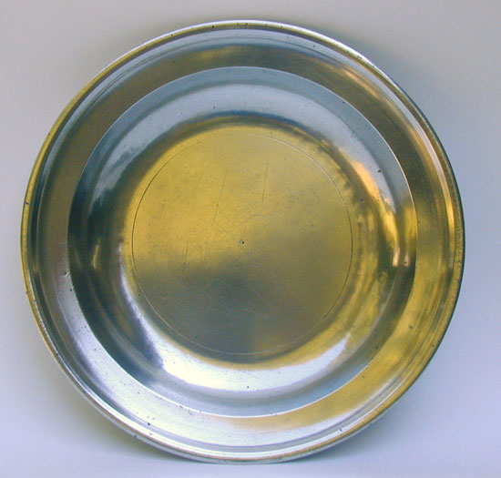 An Export Pewter Soup Plate by Henry & Richard Joseph