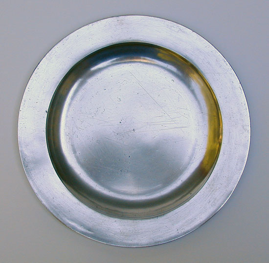 An Export Pewter Flat Rim Plate by Townsend & Compton