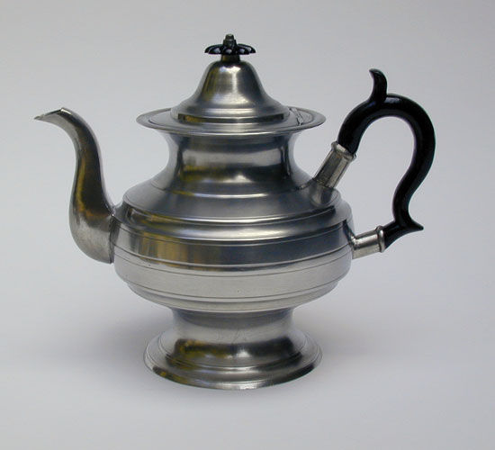 An Inverted Mold Pewter Teapot by James Putnam