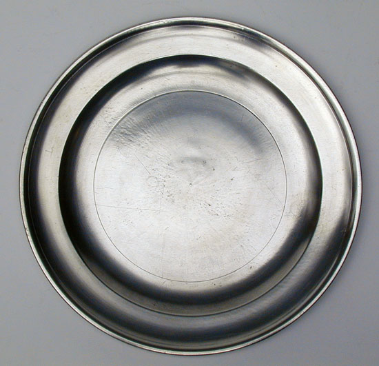 A Near Mint Pewter Plate by Richard Austin