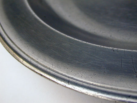 A Jacob Whitmore Antique American Pewter Deep Dish