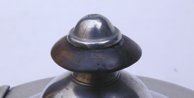 A One Cup Unmarked Boardman Pewter Teapot