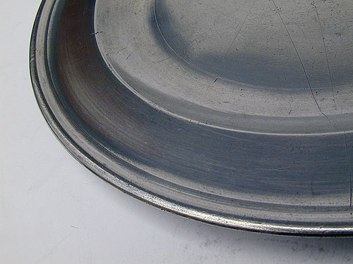A Large Export Pewter Plate by Compton