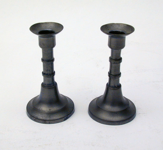 A Pair of Miniature English Candlesticks