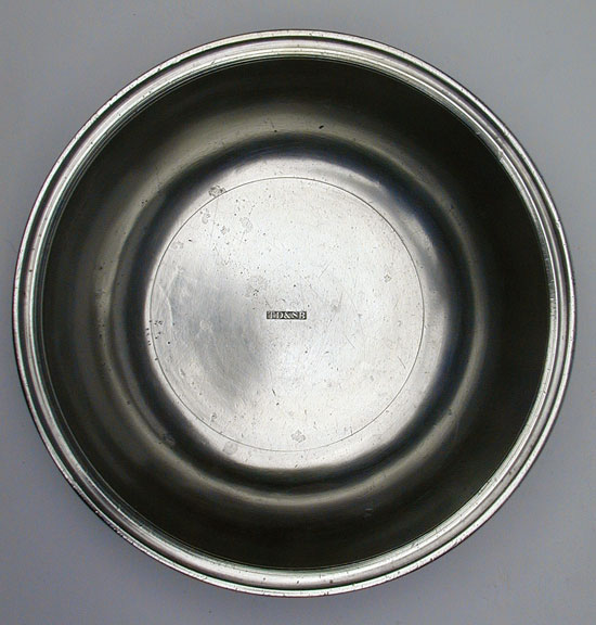 A Small Size Pewter Basin by TD & SB