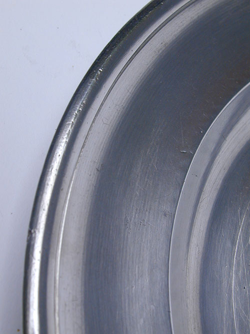 A Pewter Plate by Ashbil Griswold