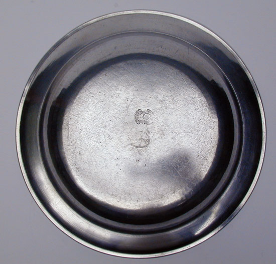A English Export Pewter Deep Dish by Compton