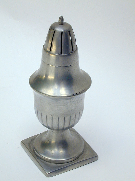 An Unmarked Continental Pewter Caster