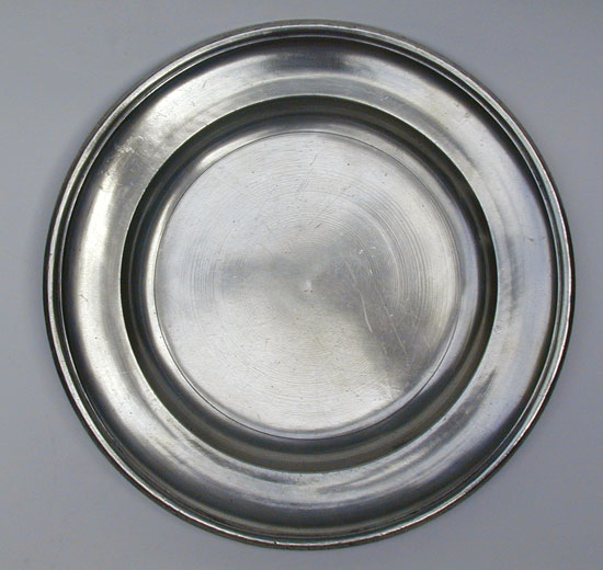 A Samuel Daforth Pewter Plate