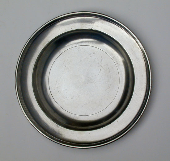 A Boardman Warranted Semi-Deep Pewter Plate
