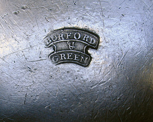 A Quart Pewter Export Tankard by Burford & Green