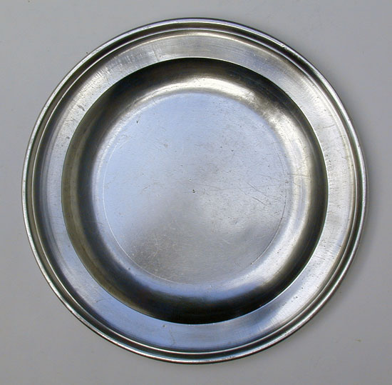 A Fine Condition Export Pewter Plate by Townsend & Compton