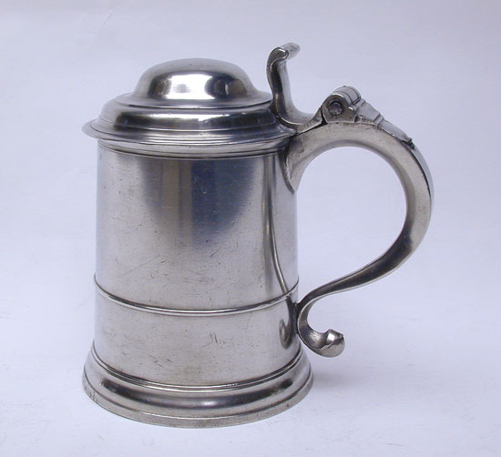 A Quart Pewter Export Tankard by William Charsley