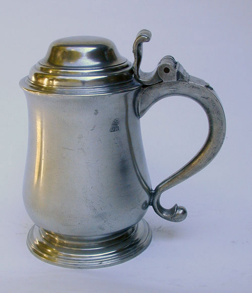 A Super Condition Export Pewter Tulip Form Pewter Tankard by John Fasson II