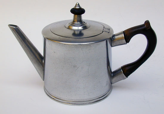 A Drum Form Export Pewter Teapot by Ingram & Hunt
