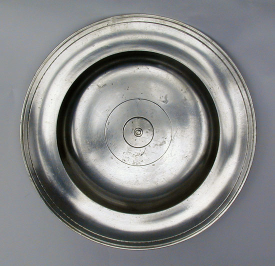 An Unmarked Trask Pewter Communion Plate