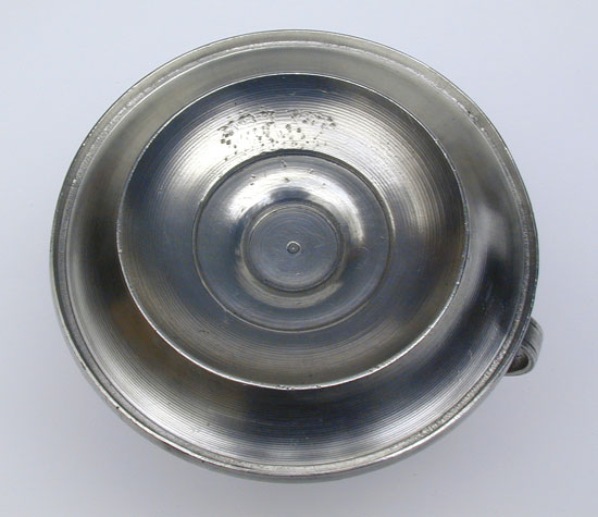 An Unmarked Pewter Chamberstick Attributable to Meriden Britannia Company