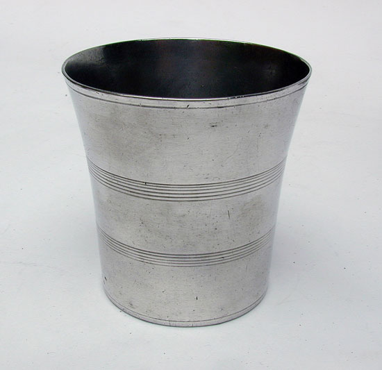 A Marked Antique American Pewter Ashbil Griswold  Beaker