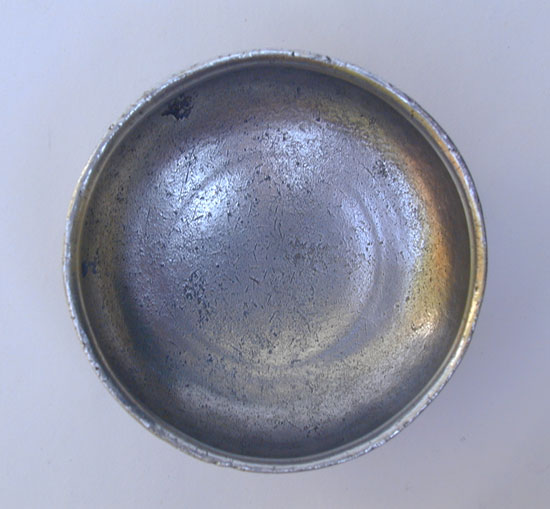An Unmarked Antique American Pewter Salt Attributed to Thomas Danforth II