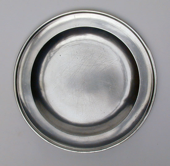 An Antique English Export Pewter Plate by Fasson & Son