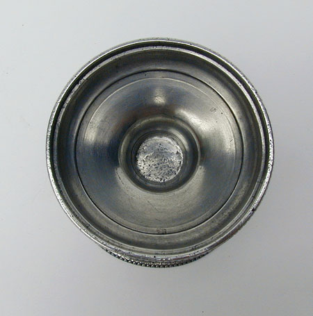 An Antique American Pewter Philadelphia Salt Attributed to Parks Boyd