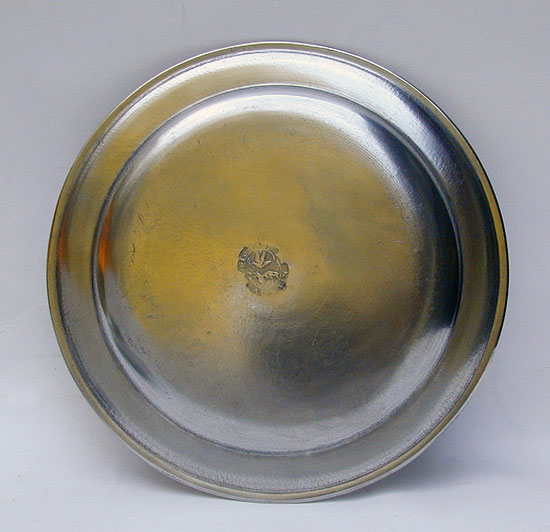 A Super Condition American Pewter Plate by Richard Austin