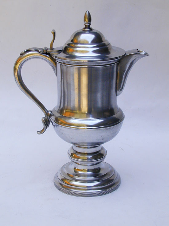 A Very Fine Antique American Pewter Flagon by Hiram Yale & Co. of Wallingford, Connecticut