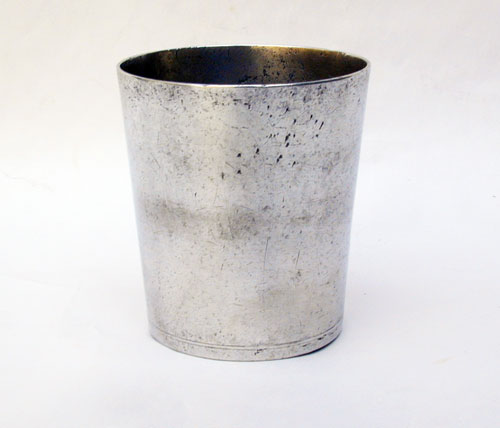 A Short Pewter Beaker by the Boardmans