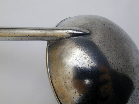 A Simeon Stedman Pewter and Wood Ladle