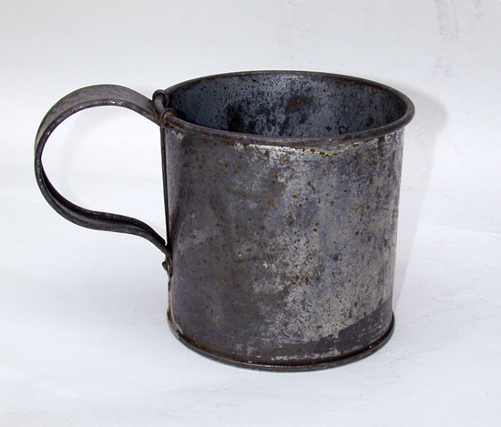 A Civil War Issue Tinned Cup