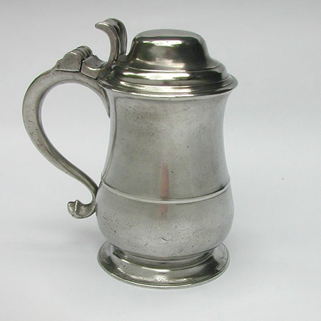 A Handsome Tulip Tankard with Heart Thumbpiece