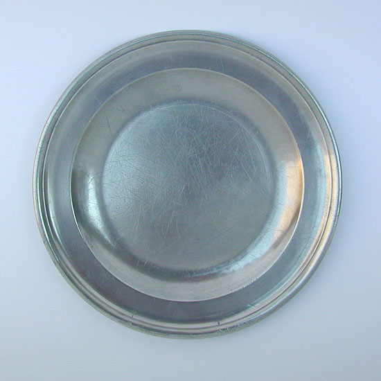Single Reeded Rim Plate by Townsend & Compton