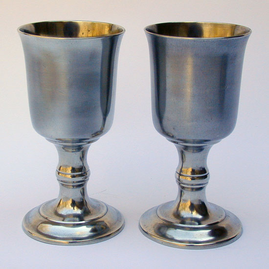 A Pair of Tall Unmarked Boardman Chalices