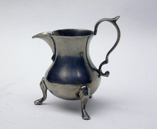 An Export Pewter Cream Pot by Henry Joseph