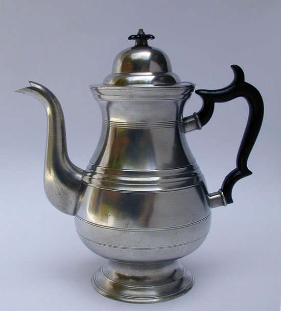 A Pewter Coffeepot by James Putnam