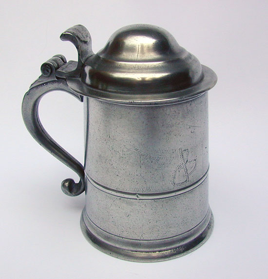 A Pewter Pint English Export Tankard